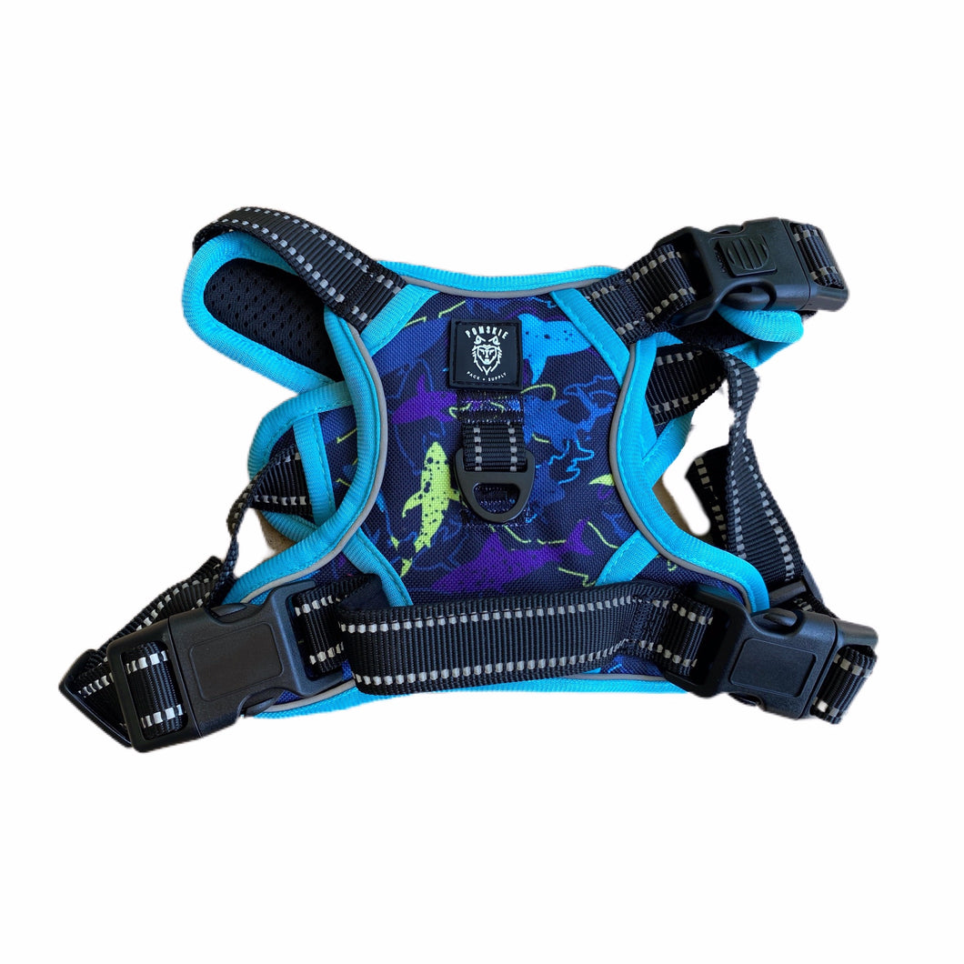 Seaside Shark Cooling Harness - Pomskie Pack Supply