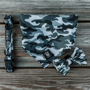 Camo Wolf Collar + Bow Tie - Pomskie Pack Supply