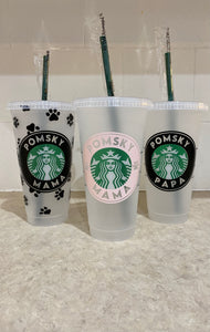 Pomsky Starbucks Cup - Pomskie Pack Supply
