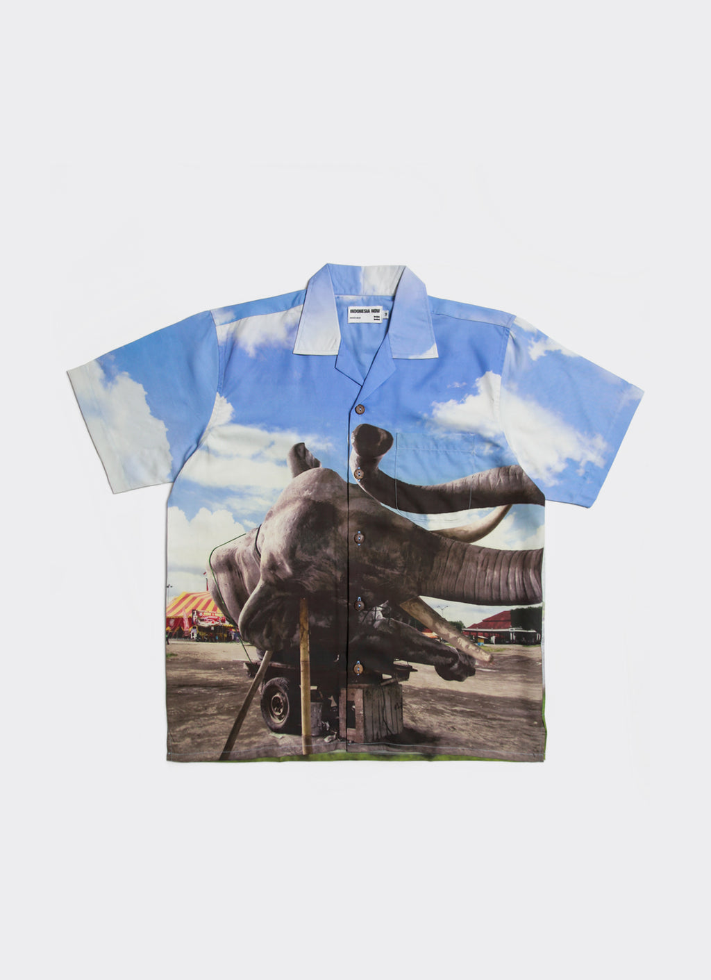 Blue Sleeping Elephant in the Axis of Yogyakarta Shirt