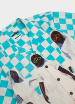 Sky Blue Checkered Alamanak Shirt