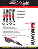 Polaris General 4 1000 Dual Rate Spring Kit for FOX 2.0 Podium QS3 Shocks (2017-2020)