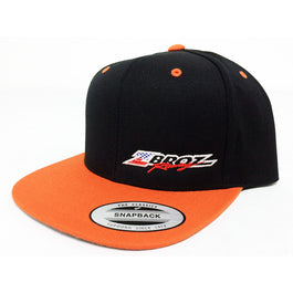 "Zbroz Racing ""Orange Madness"" Snapback Flat Bill Hat"