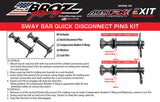 Polaris RZR XP Turbo Sway Bar Quick Disconnect Pull Pins (2016-2021)