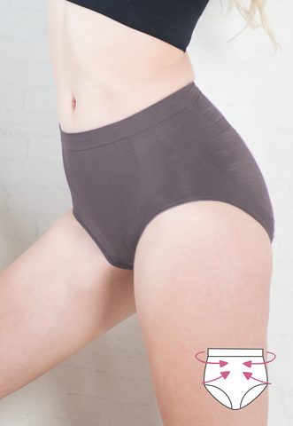 Mid Waist Slim Wear Briefs - Firm Control