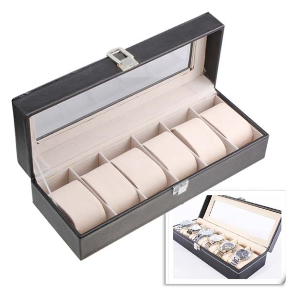 High Quality Leather Wristwatch Display Box