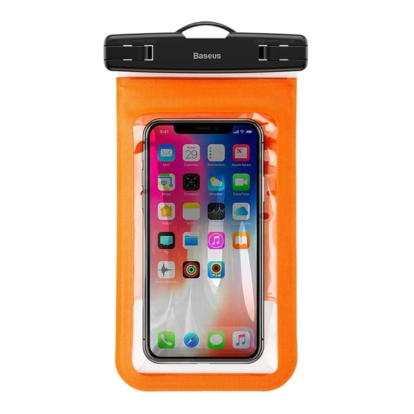 Baseus 6'' Universal Multifunction Waterproof Case For iPhone X 8 8 Plus 7 7 Plus Samsung S9 S8 Plus Waterproof Pouch IPX8 Bags