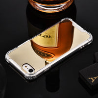 Luxury Plating Mirror Phone Case Cover For iPhone 7 Case Silicon For iPhone 6 6S 8 Plus X 10 XR XS XS Max Case Coque