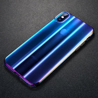 Baseus Luxury Aurora Case For iPhone Xs Xs Max XR 2018 Fashion Gradient Hard Plastic Case For iPhone Xs Back Phone Cover