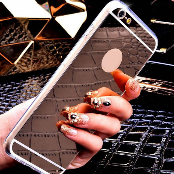 4.7 Inch PhoneCases Luxury Mirror TPU Soft Silicone Case For iPhone  6  Shell Cover For iPhone 6
