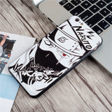 Sketch Naruto mens case cool for Apple iphone 7 8 X XSMAX XR silicone back cover cartoon Kakashi 6 6s 7 8 plus soft shell Sasuke