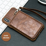iPhone X Zipper Wallet Case,iPhone X Wallet Case, Leather Wallet Zipper Case with card holder