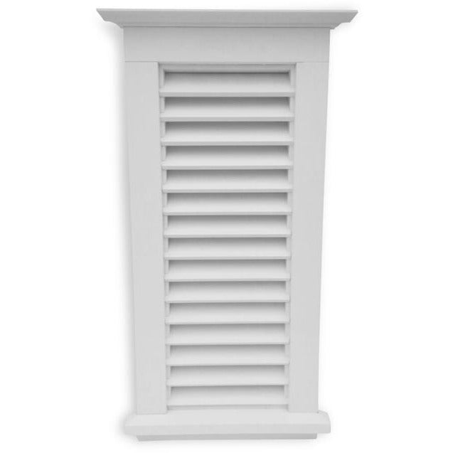 Large Louvered Gable Vent