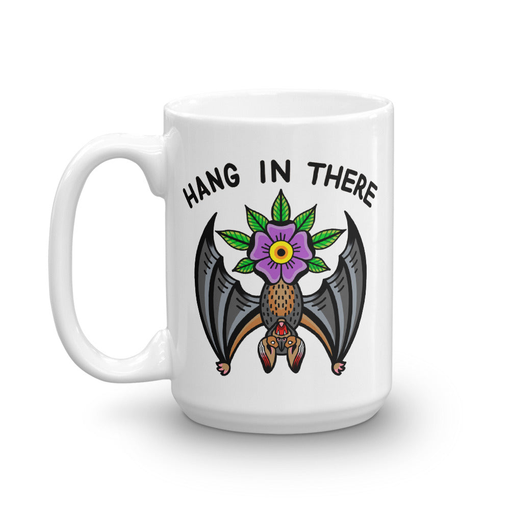 Hang in There Bat Coffee Mug