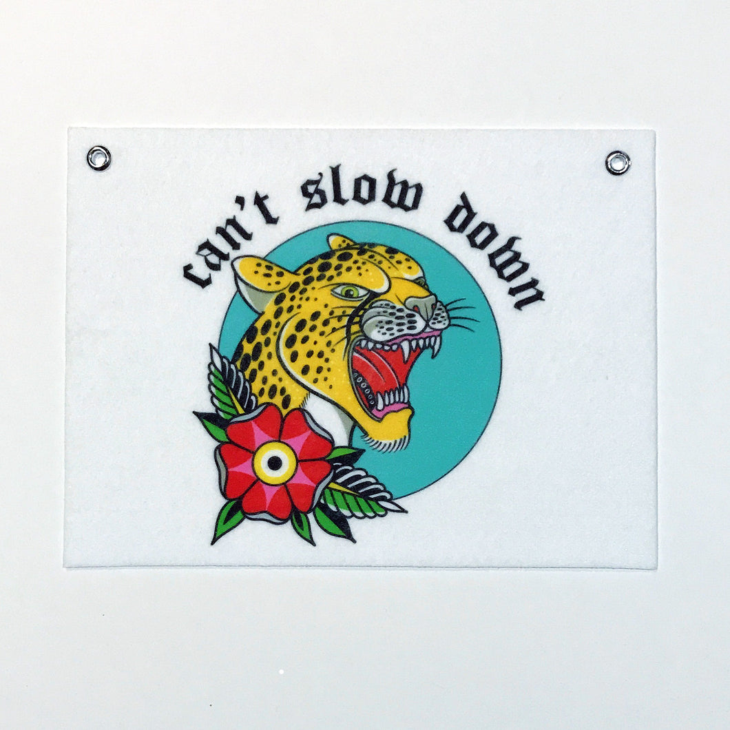 Can't Slow Down Banner - 9x12
