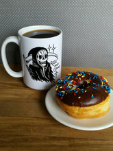 Load image into Gallery viewer, Rise and Grind Reaper Coffee Mug