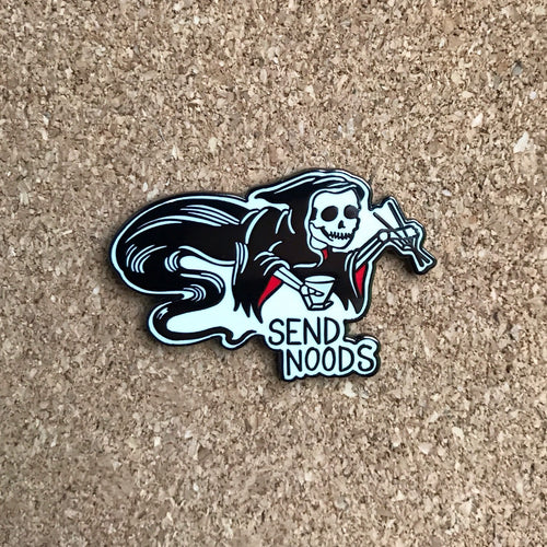 Send Noods Reaper Enamel Pin