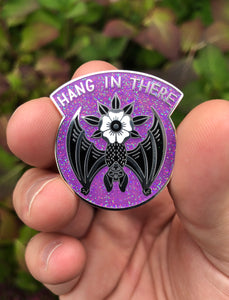 Hang in There Bat Enamel Pin