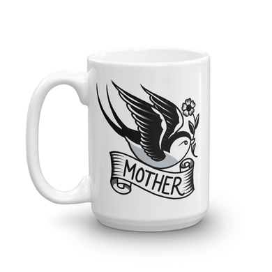 SECONDS Sparrow with Mother Banner Coffee Mug