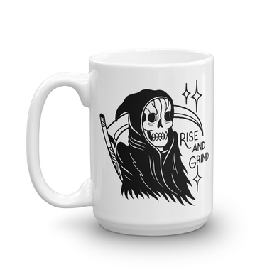 SECONDS Rise and Grind Reaper Coffee Mug