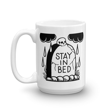 Load image into Gallery viewer, Stay in Bed Gravestone Coffee Mug