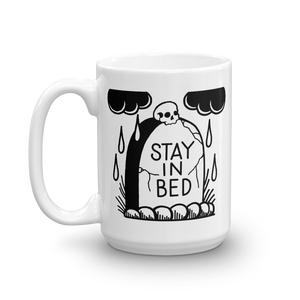 Stay in Bed Gravestone Coffee Mug