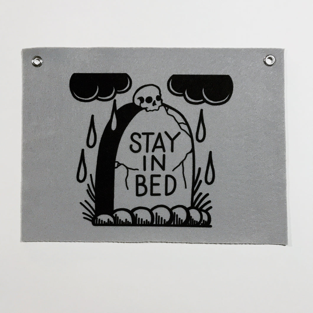 Stay in Bed Banner - 9x12
