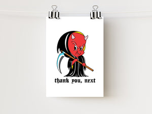 "5x7"" Thank You, Next Devil Art Print"