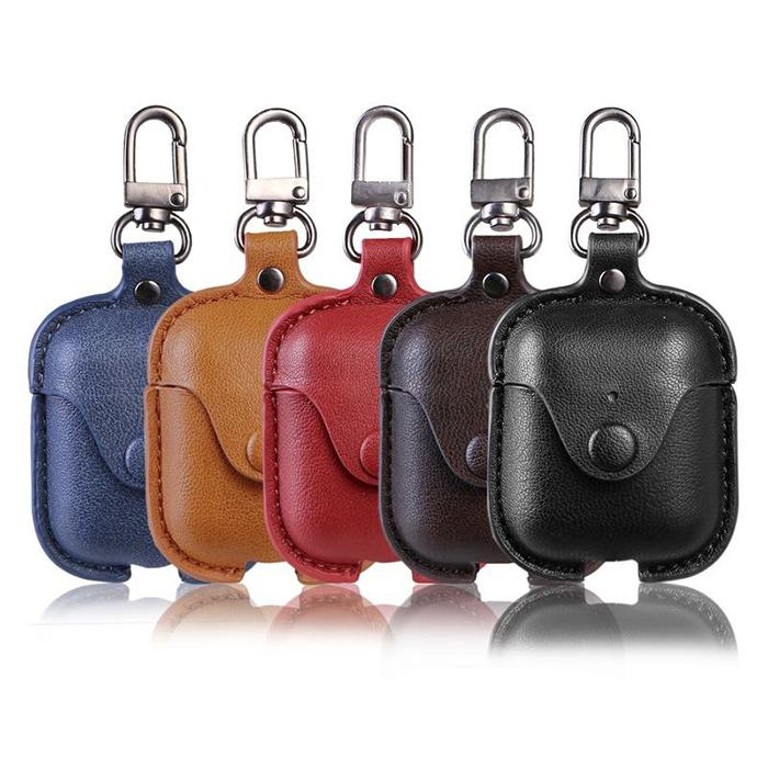 online store 6ba62 d652d AirPods Leather Case AirPods Anti Lost Strap Cover Keychain Kit Accessories  Waterproof Retro Compatible Apple AirPods