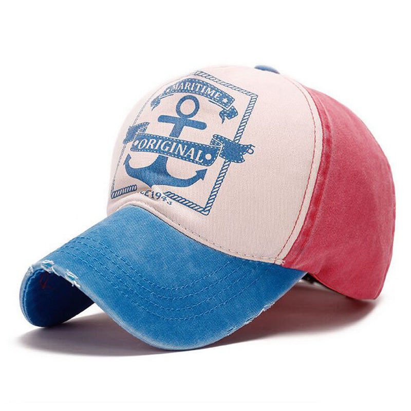 Maritime Original Anchor Distressed Hat Aqua/Pink
