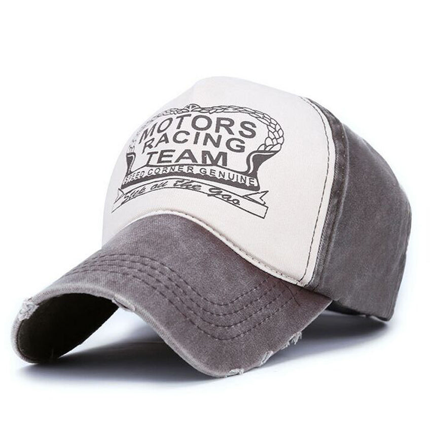 Motors Racing Print Hat Brown/Grey