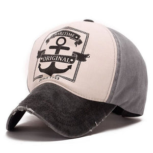 Maritime Original Anchor Distressed Hat Black/Grey