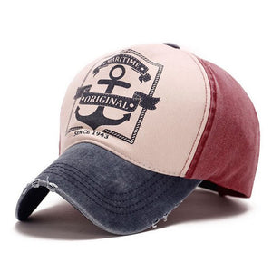 Maritime Original Anchor Distressed Hat Blue/Red