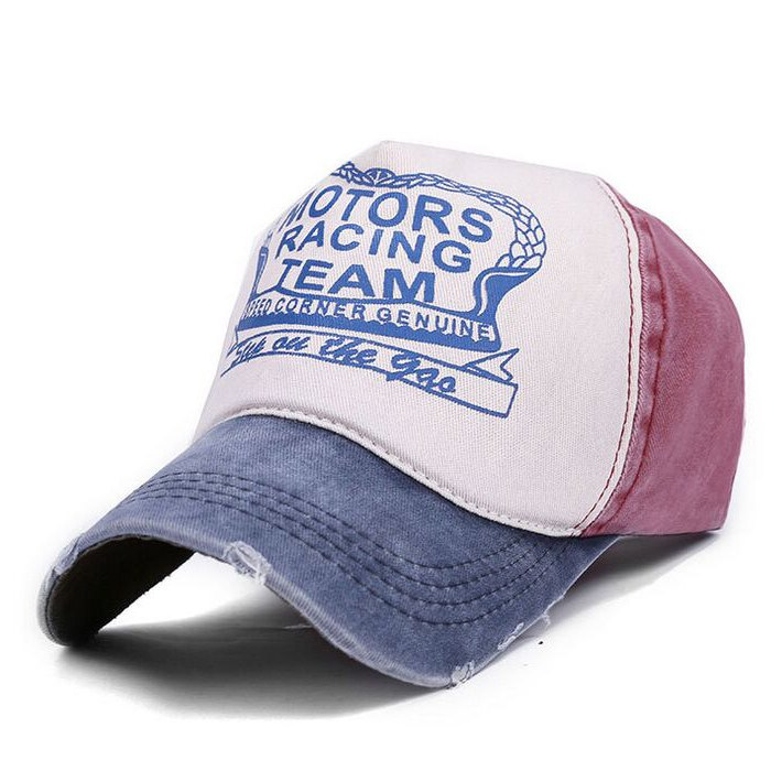 Motors Racing Print Hat Blue/Red