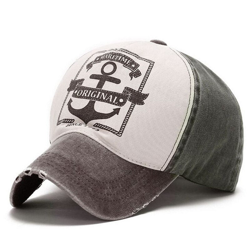 Maritime Original Anchor Distressed Hat Khaki/Grey