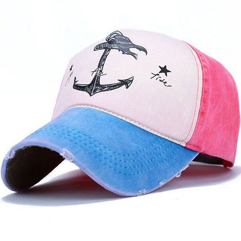 Change The Tide Distressed Hat Aqua/Pink