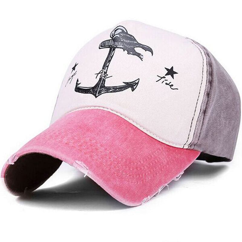 Change The Tide Distressed Hat Pink/Brown