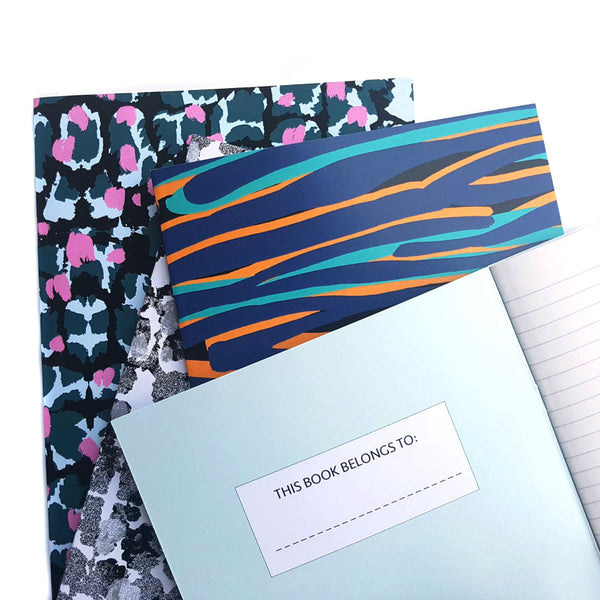 A5 Lined Notebook With Geo Pattern - OlaOla