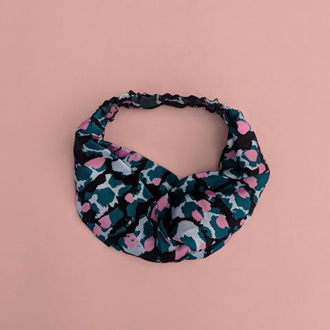 Silk Satin Turban Headband With Torto Pattern *PRE-ORDER* - OlaOla