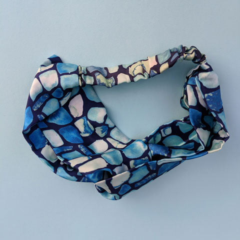 Silk Satin Turban Headband With Geo Pattern *PRE-ORDER* - OlaOla