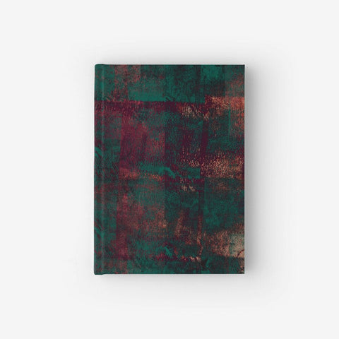 Hardcover Notebook With Rust Pattern