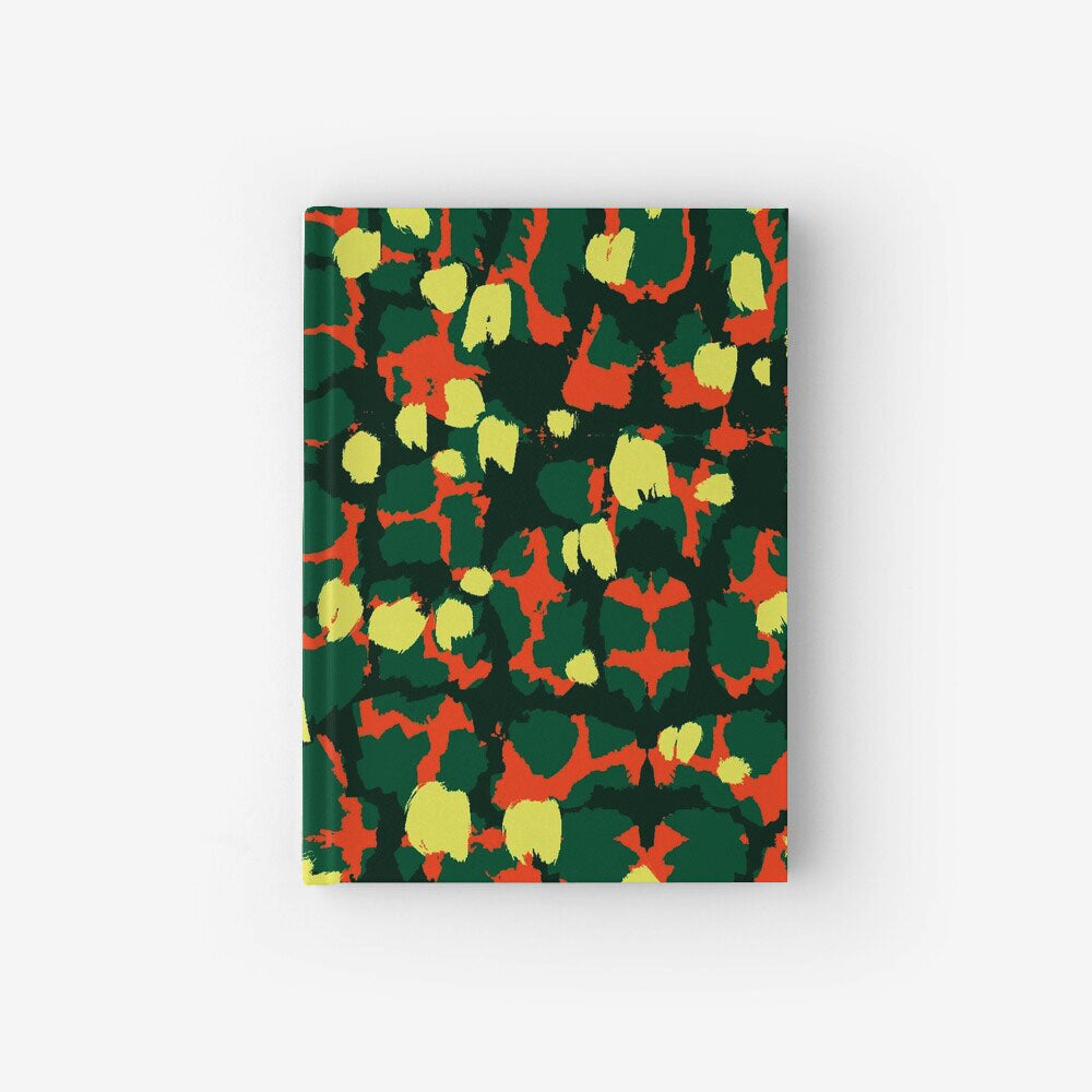 Hardcover Notebook With Torto Yellow Pattern