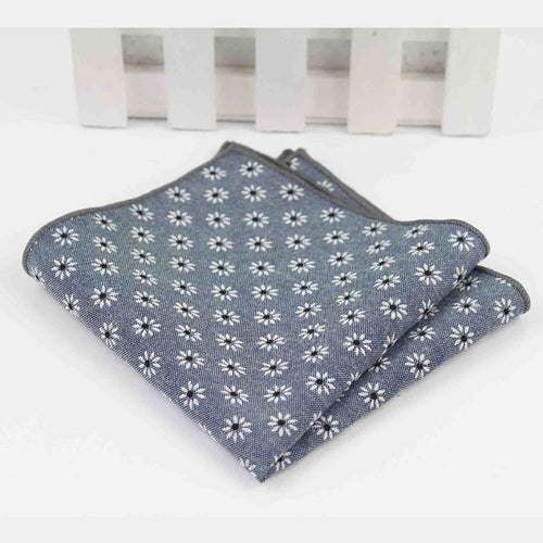 Daisy Cotton Pocket Square