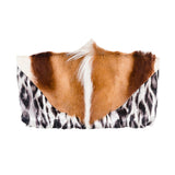 Springbok Leather Cheetah Print Clutch