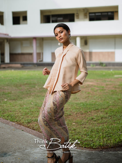 Ratna wrap skirt in Brown