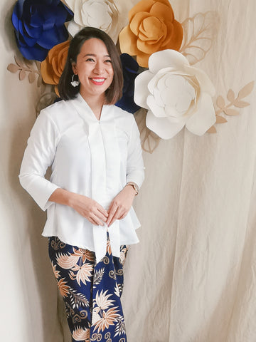 Kebaya Top - White