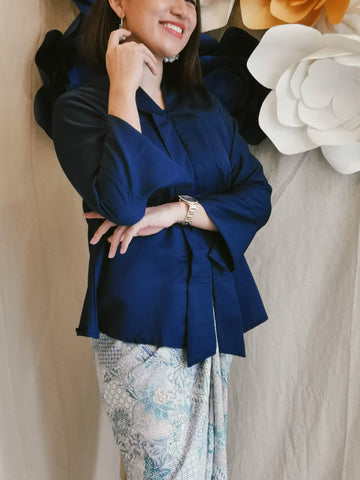 Kebaya Top - Navy