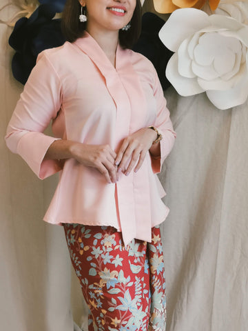 Kebaya Top - Peach