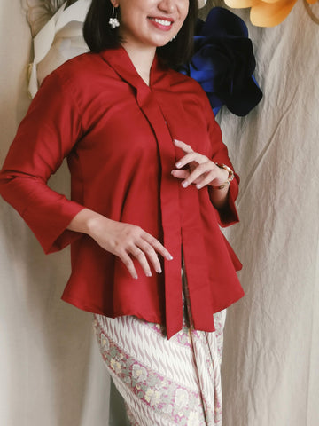 Kebaya Top - Red