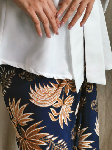 Palm wrap skirt